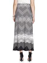 Border Diamond Print Maxi Skirt, Black, hi-res