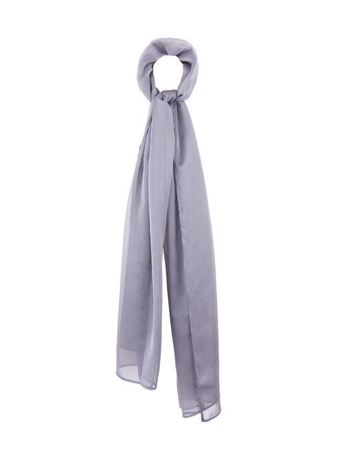 Iridescent Wrap Scarf, Grey, hi-res