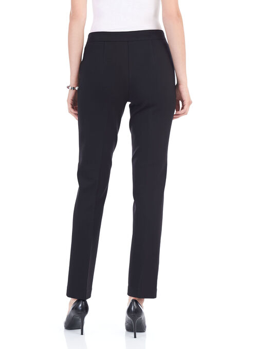 Straight Leg Ponte Pants, Black, hi-res