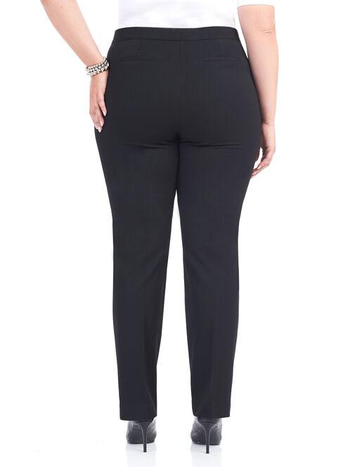 Turkish Twill Straight Leg Pants, Black, hi-res