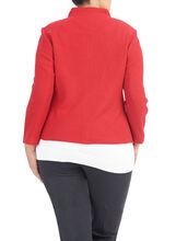 Terracotta Knit Wool Jacket, Orange, hi-res
