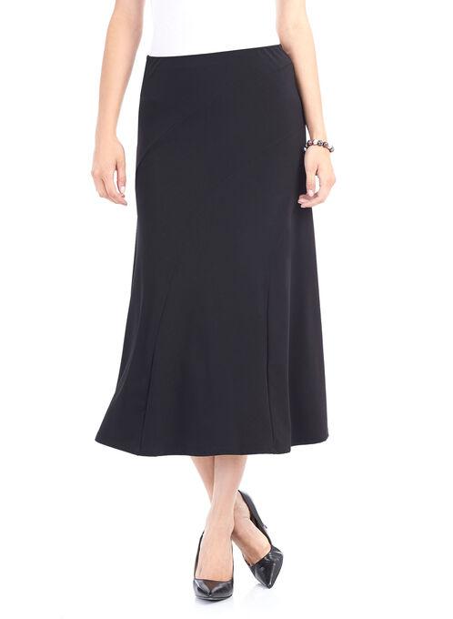 Solid Knit Skirt, Black, hi-res