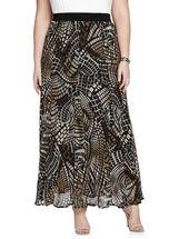 Mosaic Print Chiffon Maxi Skirt, Black, hi-res