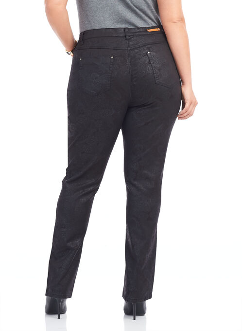 Simon Chang Straight Leg Pant , Black, hi-res
