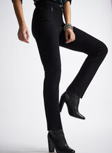 Ponte Straight Leg Pants , Black, hi-res
