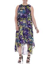 Sleeveless Beaded Cleo Neck Dress, Purple, hi-res