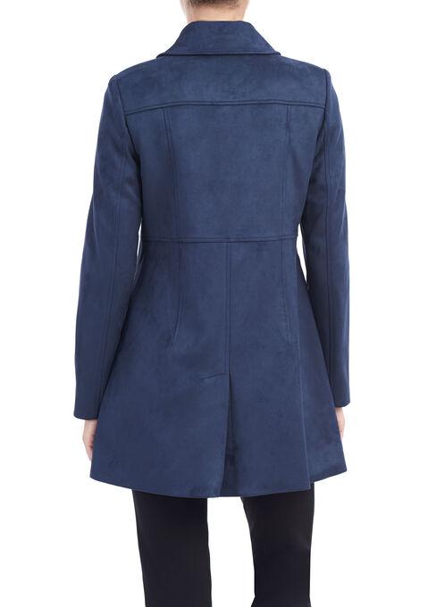 Novelti Faux Suede Notch Collar Jacket, Blue, hi-res