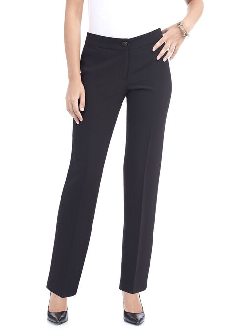 Modern Cut Straight Leg Pants , Black, hi-res