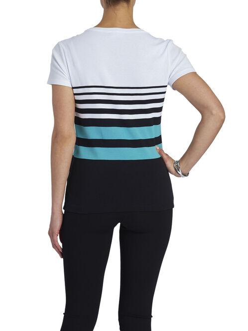 Scoop Neck Printed T-Shirt, Black, hi-res
