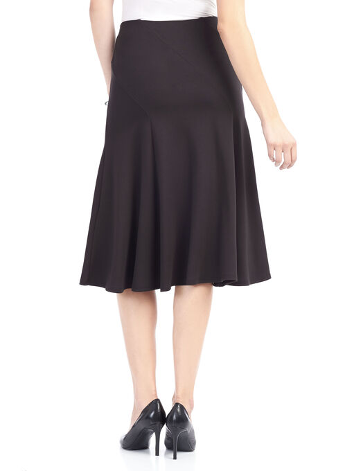 Ponte Midi Skirt , Black, hi-res