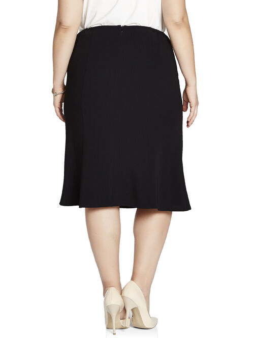 Louben Elastic Waist Flared Skirt, Black, hi-res