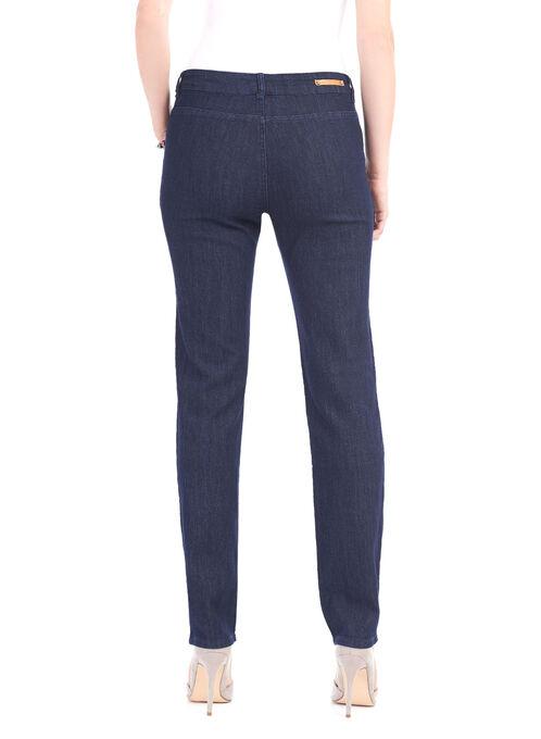 Simon Chang Straight Leg Denim Pants, Blue, hi-res