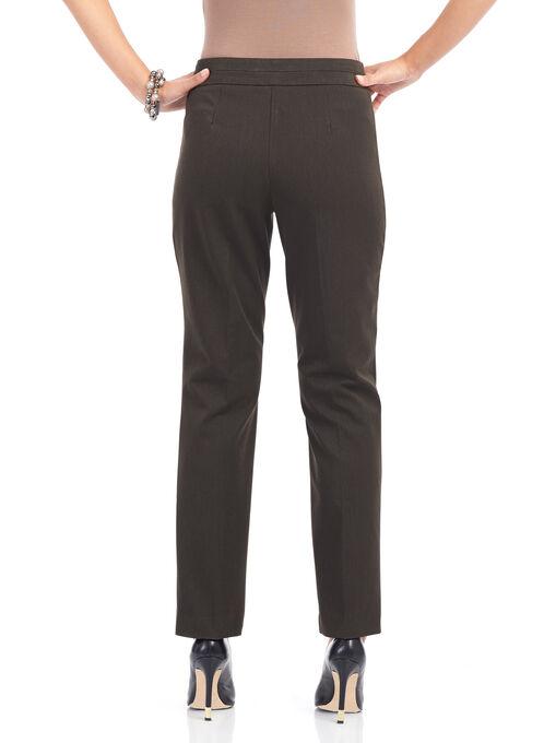 Welt Pocket Straight Leg Pants, Brown, hi-res