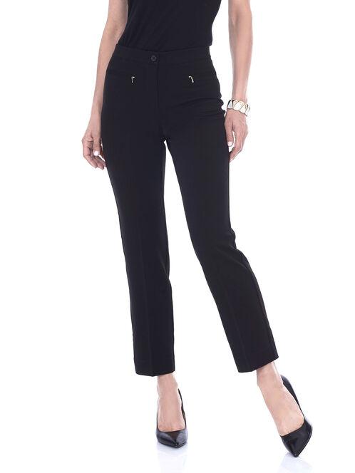 Straight Leg Signature Fit Pant, Black, hi-res