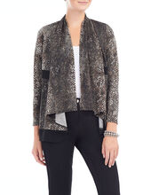Animal Print Fly Away Jacket, Black, hi-res
