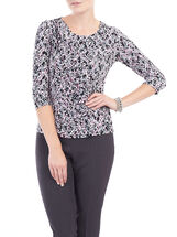 Panel Front Printed Top, Red, hi-res