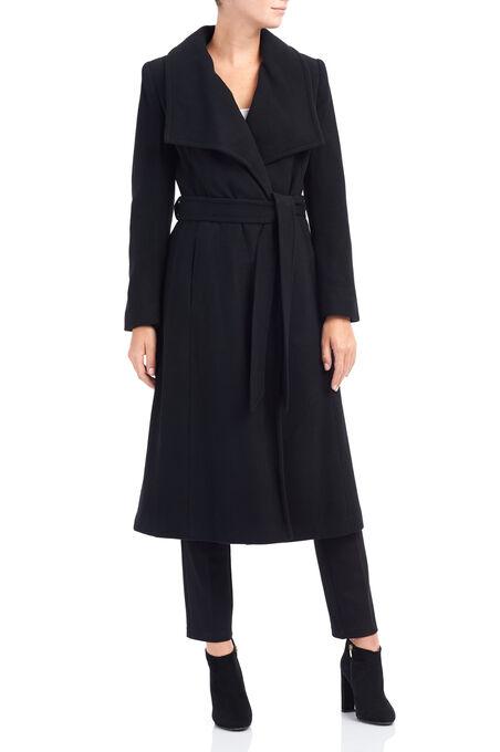 Novelti Wool Coat, Black, hi-res