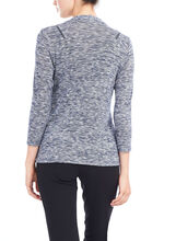 Cut & Sew Long Sleeve Cover Up, Blue, hi-res