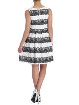 Sleeveless Lace Fit & Flare Dress, White, hi-res