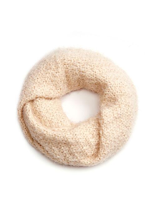 Knit Loop Scarf, Off White, hi-res