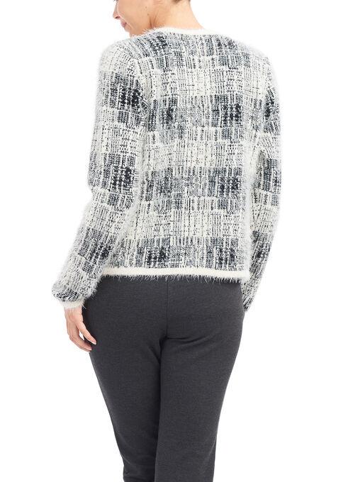 Linea Domani Knit Cardigan, White, hi-res