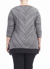3/4 Sleeve V-Neck Top , Black, hi-res