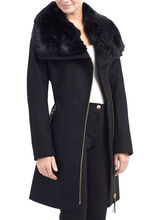Via Spiga Wool Coat, Black, hi-res