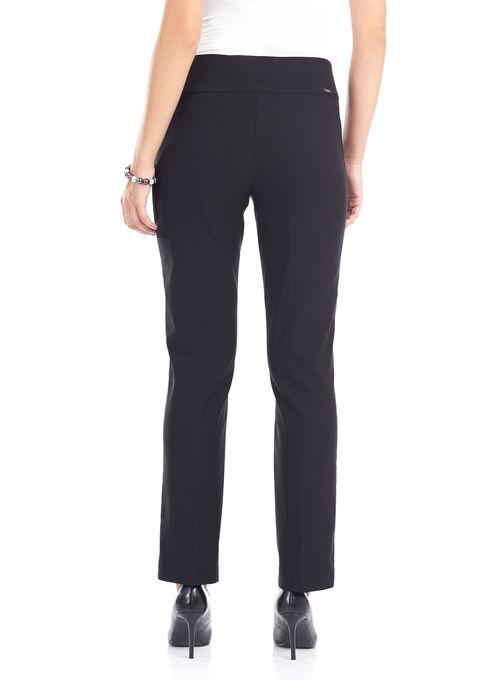 Tummy Control Slim Leg Pants , Black, hi-res