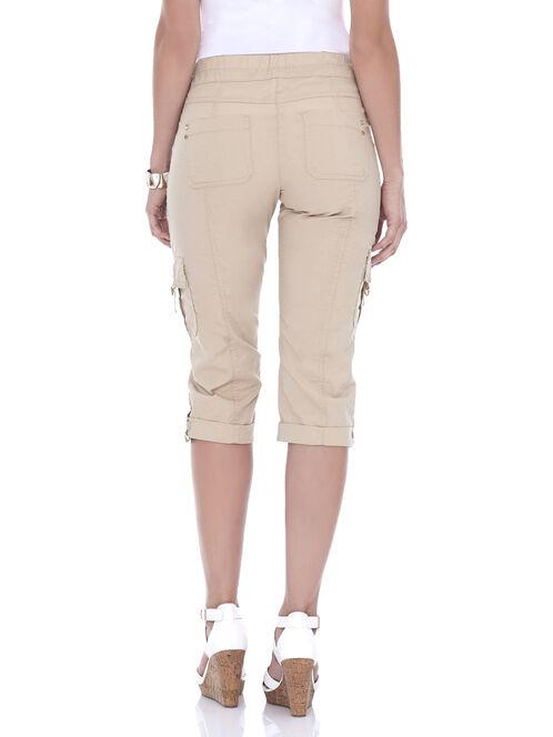 Wide Leg Capri Pants, Off White, hi-res