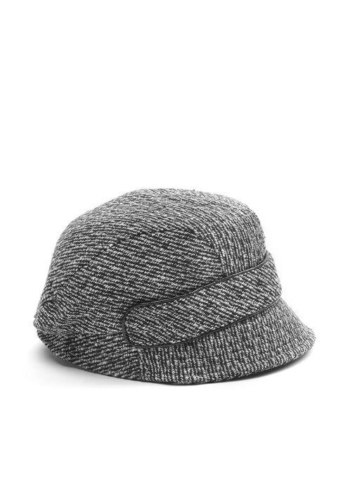 Tweed Bucket Hat, Black, hi-res