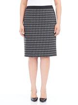 Short Ponte Houndstooth Pencil Skirt, , hi-res