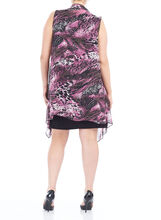 Chiffon Cover-Up Jersey Dress, Purple, hi-res