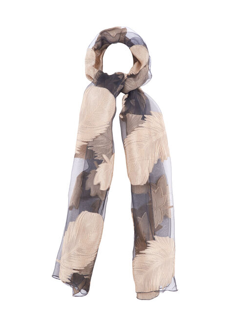 Sheer Jacquard Evening Wrap, Black, hi-res