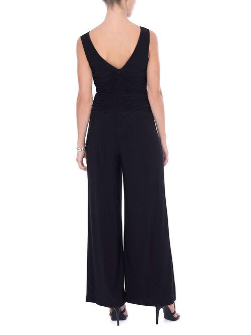Jersey Cowl Neck Jumpsuit , Black, hi-res