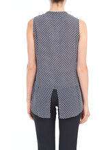 Sleeveless Double Layer Blouse, Blue, hi-res