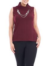 Tank/Cami turtleneck Knitwear, Red, hi-res