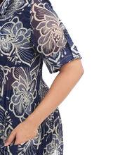 Floral Print Tunic Blouse, Blue, hi-res