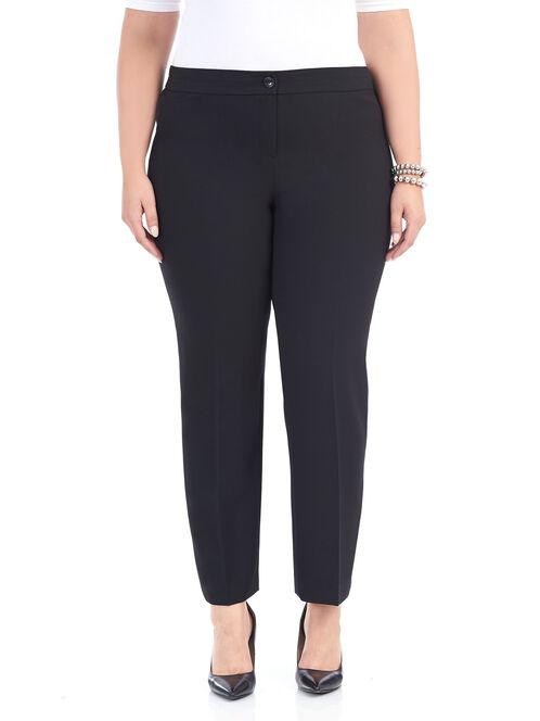 Straight Leg Modern Cut Pants , Black, hi-res