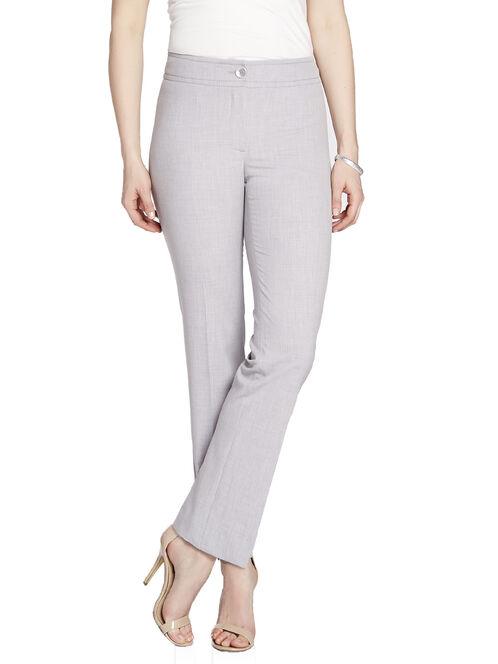 Modern Fit Crosshatch Effect Straight Leg Pants, Grey, hi-res