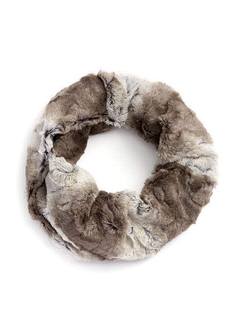 Faux Fur Loop Scarf, Grey, hi-res