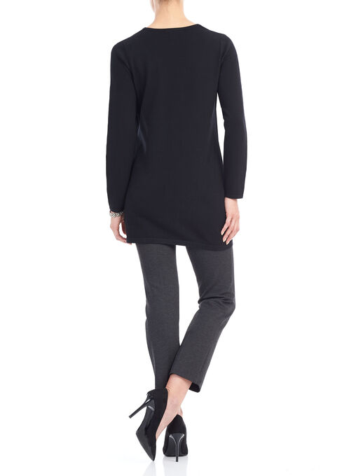 Long Sleeve Fooler Tunic Top, Black, hi-res