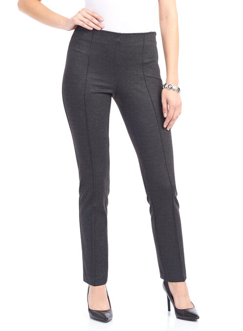 Printed Knit Straight Leg Pants , Brown, hi-res
