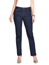 Simon Chang Contrast Stitch Slim Leg Jeans, Blue, hi-res