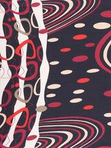 Circle Print Oblong Scarf, Black, hi-res