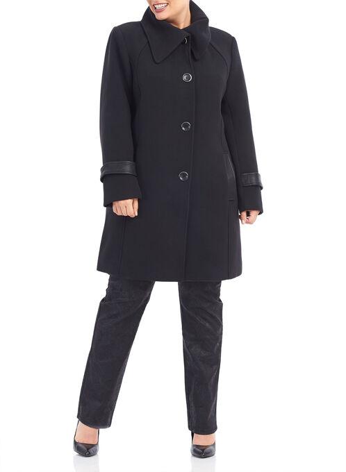 Marcona Wool-Like Coat, Black, hi-res