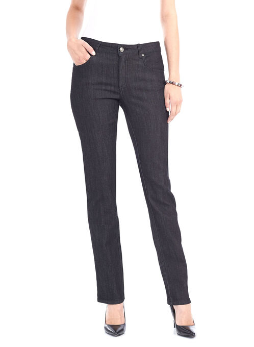 Simon Change Straight Leg Denim Pants, Black, hi-res