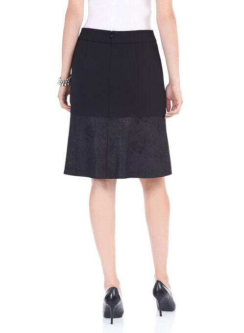 Front Flap Skater Skirt, Black, hi-res