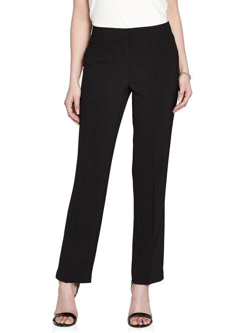 Modern Fit Seam Detail Straight Leg Pants, Black, hi-res