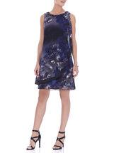 Sleeveless Beaded Trim Dress, Purple, hi-res