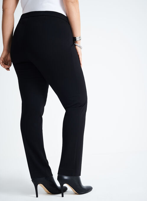 Ponte Straight Leg Pants , Black, hi-res